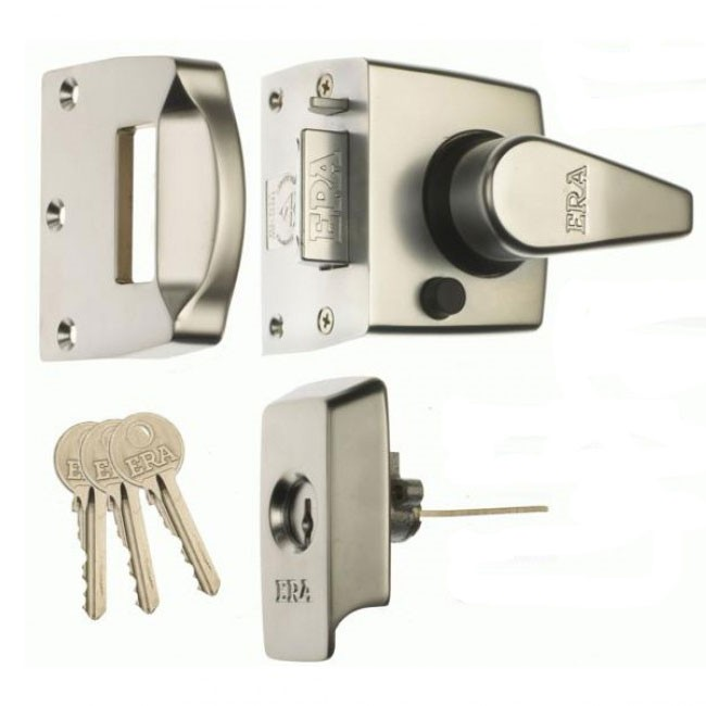Era BS Keyless Egress Nightlatch Satin Nickel