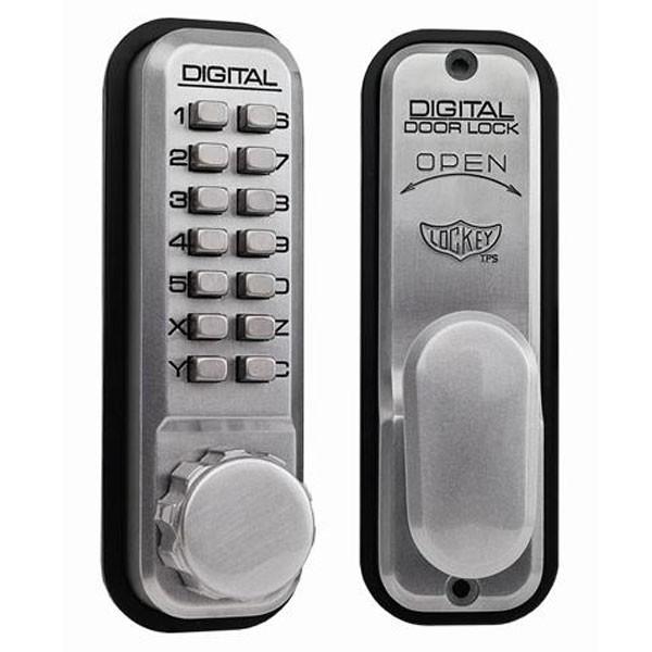 Lockey 2430 Mechanical Digital Lock Satin Chrome