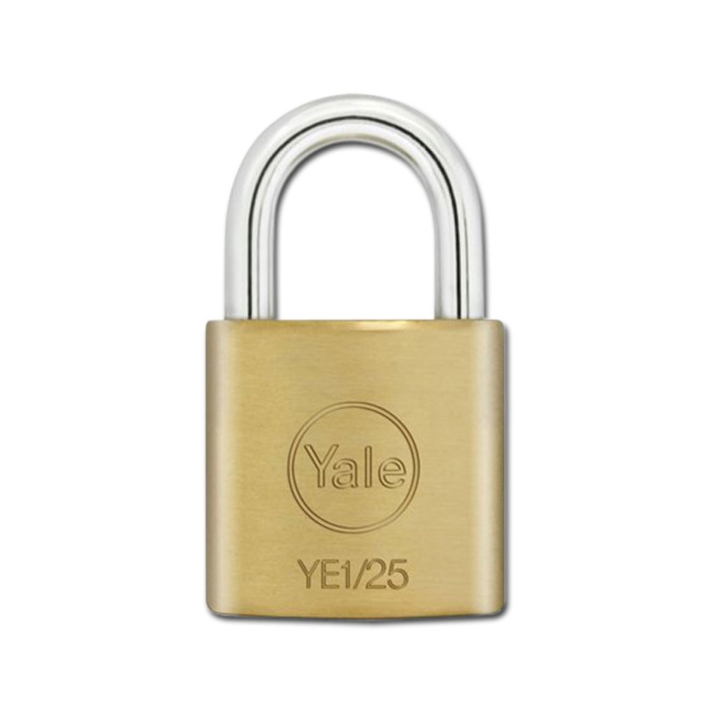 Yale Essential Brass Padlock 25mm KD