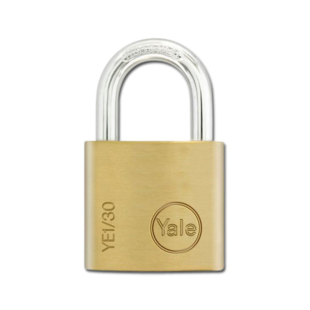 Yale Essential Brass Padlock 30mm KD
