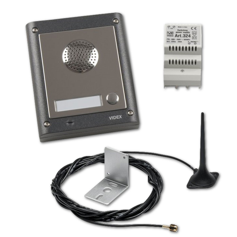 VIDEX 1 Way Surface Mounted Audio GSM Kit
