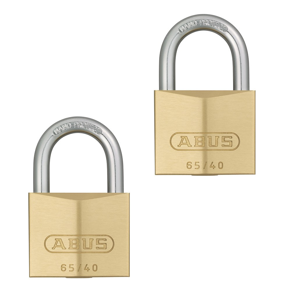 65/40mm Brass Padlock Twin Pack
