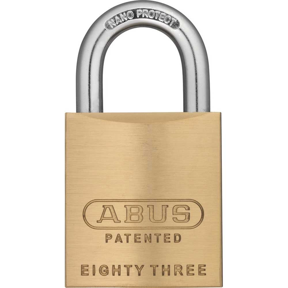 abus 83 45mm brass padlock saunderson security. Black Bedroom Furniture Sets. Home Design Ideas