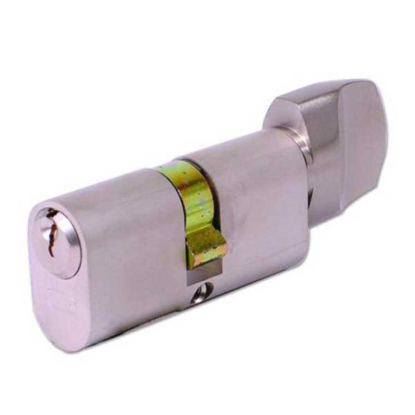 Evva Oval Knob Cylinder Nickel Plated