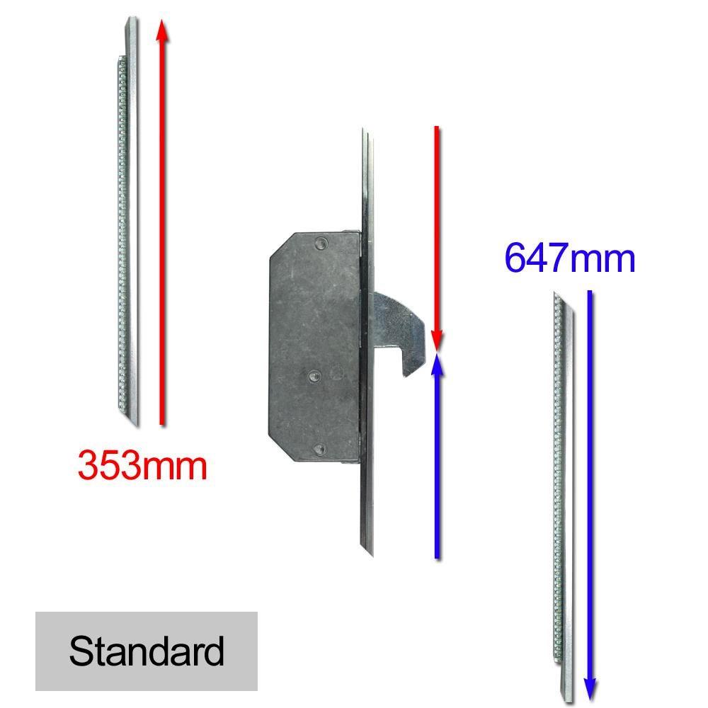 Repair Lock Extension UPVC 2 Hook Standard