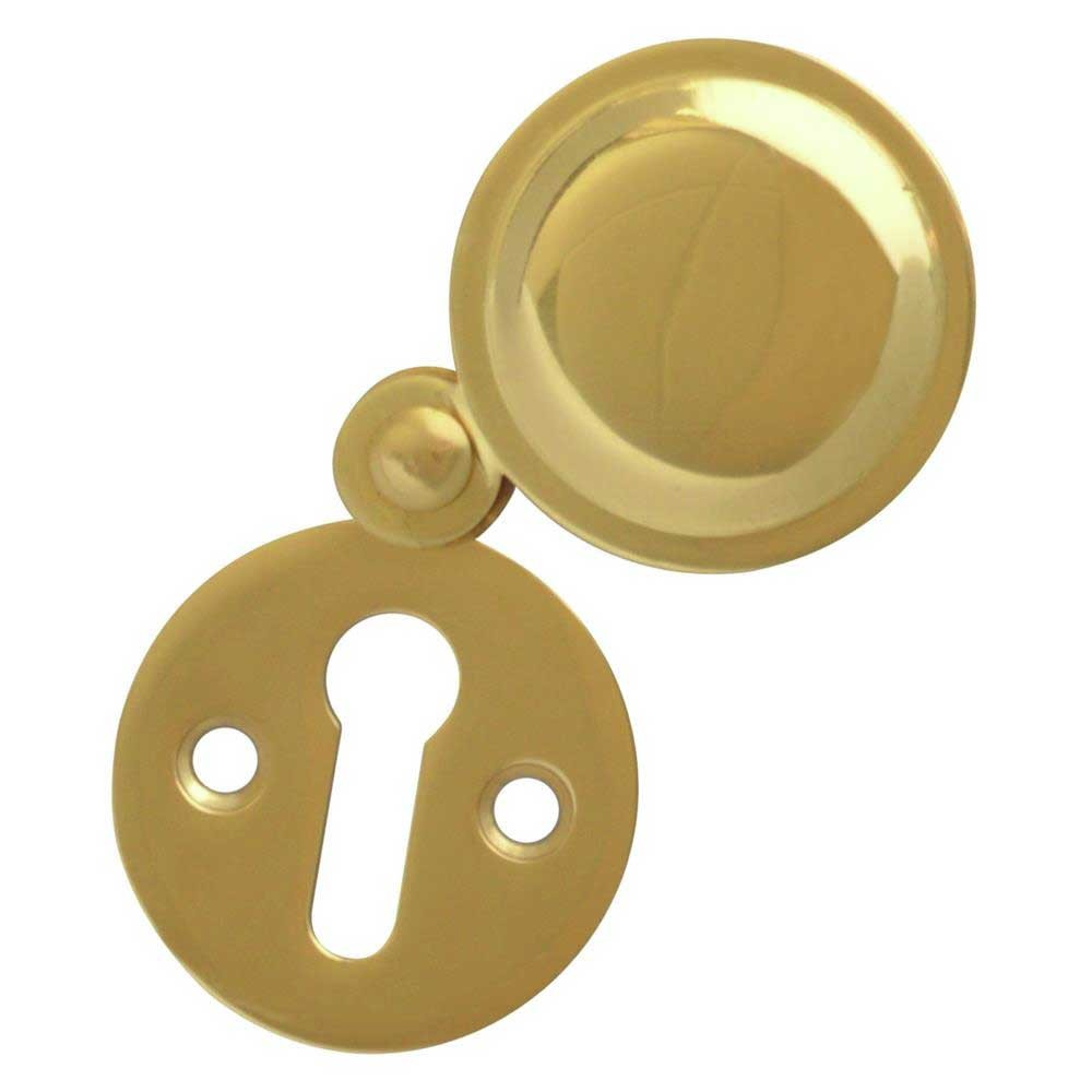 Asec Escutcheon 32mm Covered PB