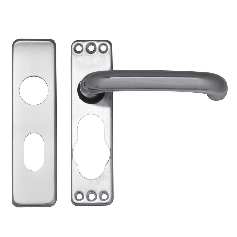 Asec Door furniture Lever Lock Oval