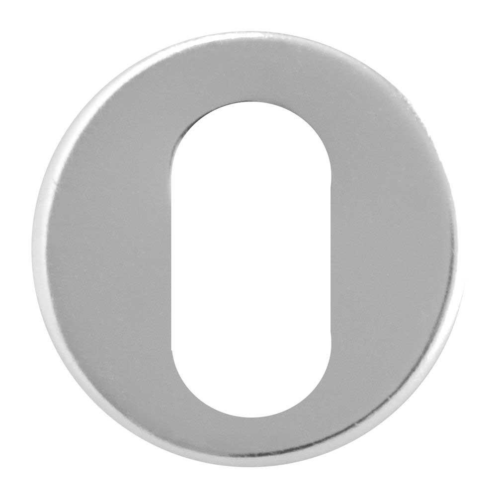 Asec Escutcheon Aluminium Oval