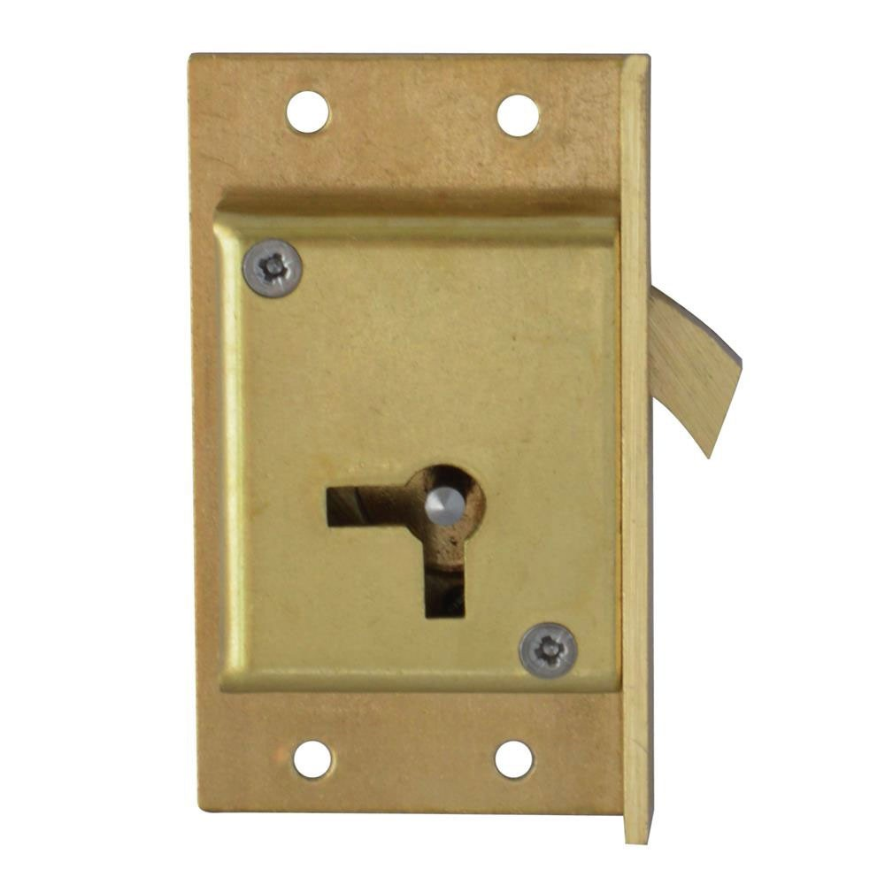 Asec No. 80 4 Lever Cut Cupboard Lock 64mm RH