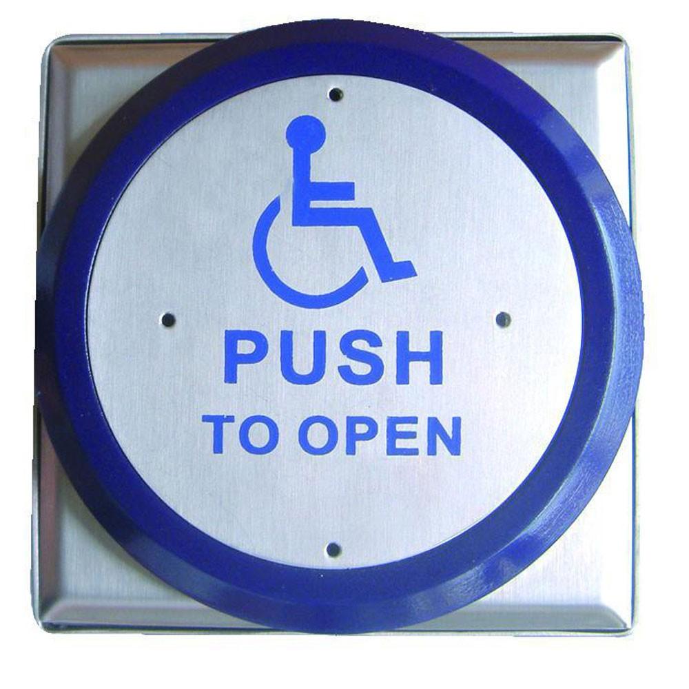 Asec Large Push Plate Exit Button