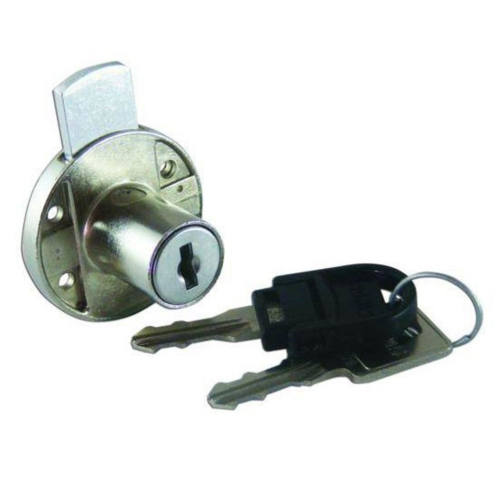 Asec Deadbolt Furniture Lock Round 18mm CP