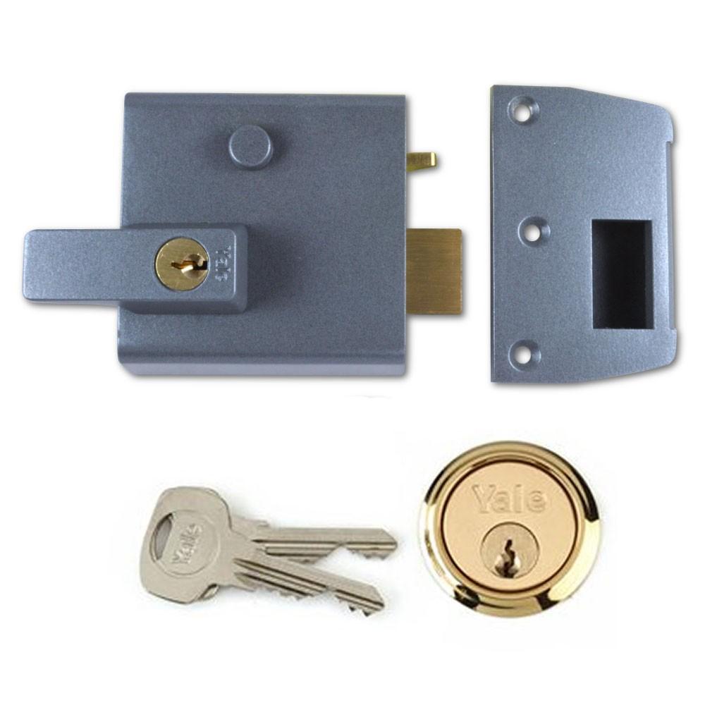 Grey Case & Polished Brass Cylinder