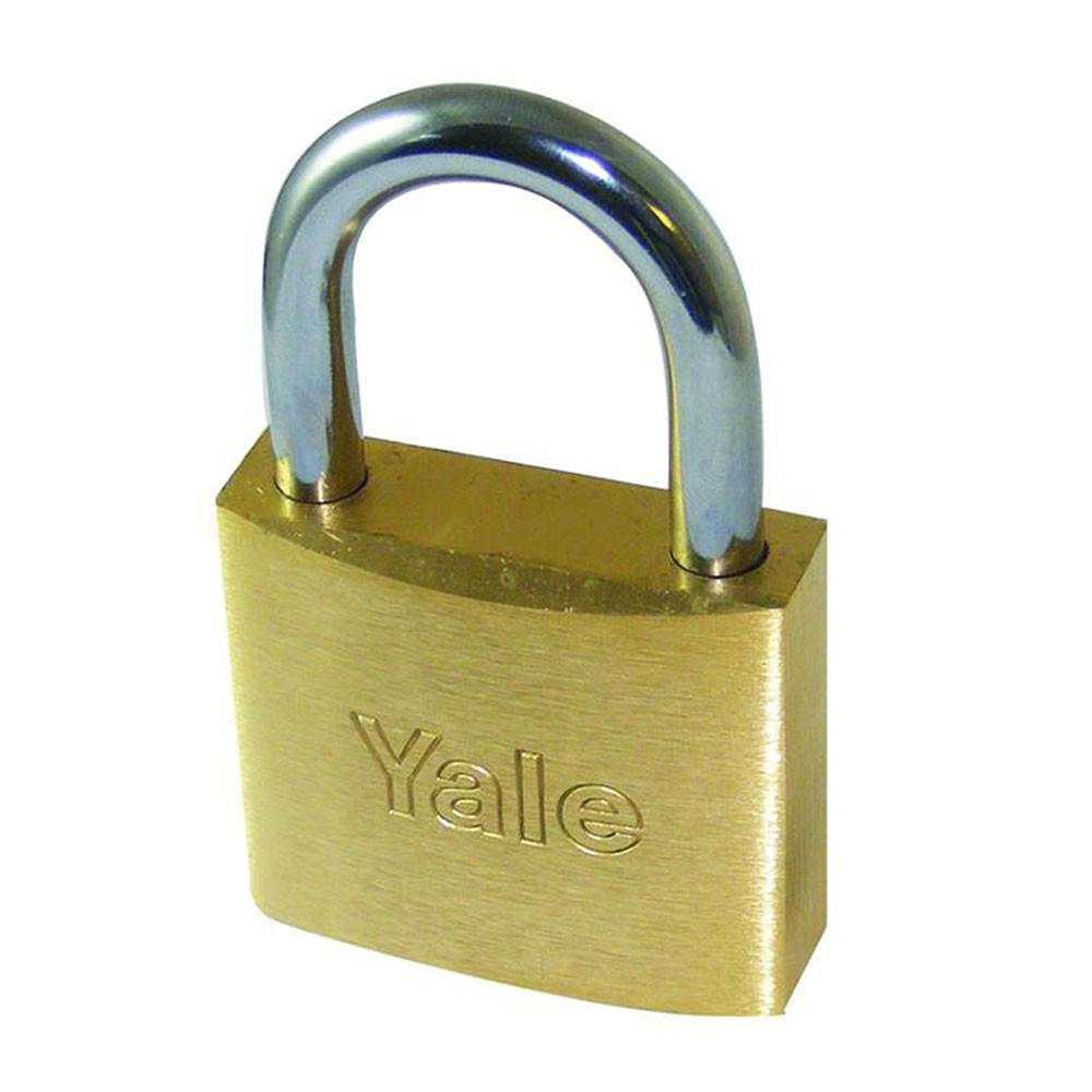 Yale 750 Steel Shackle Brass Padlock