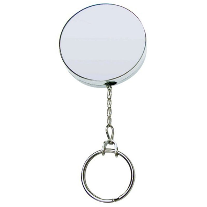SKS Large Metal Retractable Key Reel With Chain