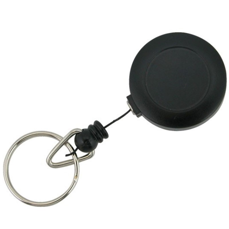 SKS Small Plastic Key Reel With Cord Black