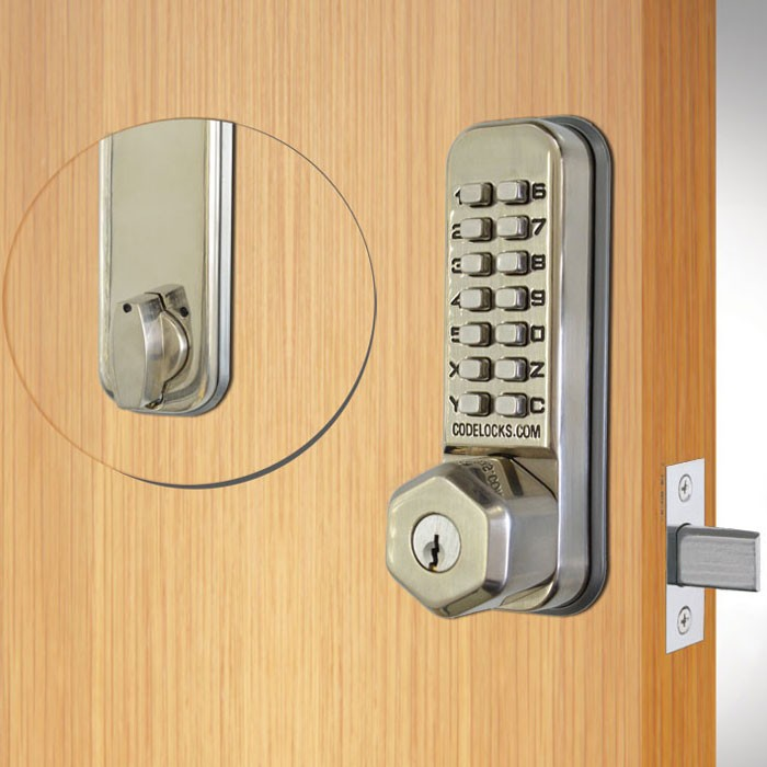 Stainless Steel With Key Override