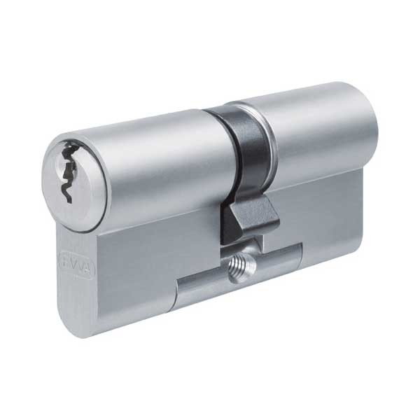 Evva EPS Euro Double Cylinder Nickel Plated