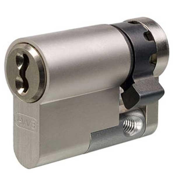 Evva 3KS Plus Half Euro Cylinder Nickel Plated