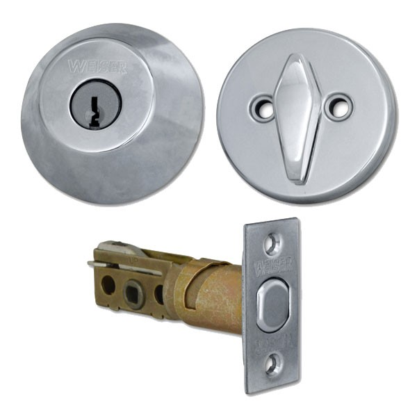 Weiser 9471 Key & Turn Deadbolt Satin Chrome