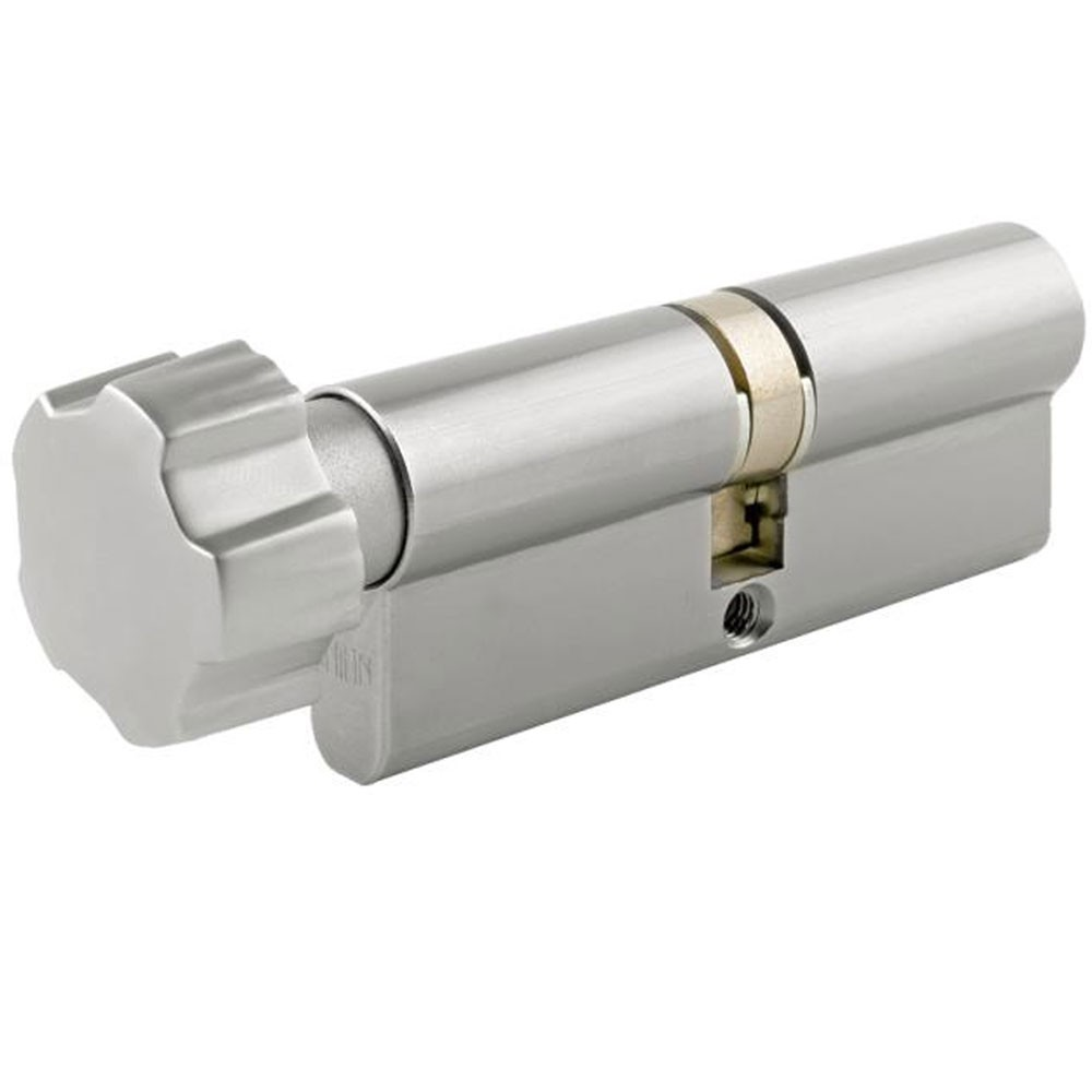 Union 2x19 Euro Key And Turn Satin Chrome