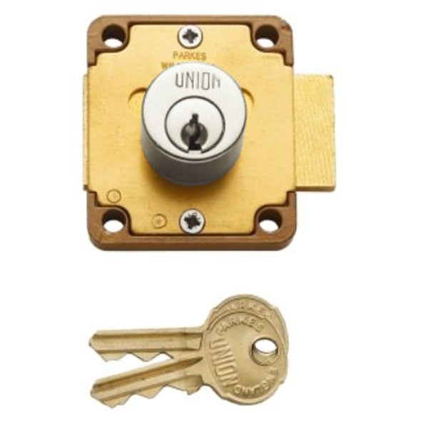 Union 4106 Cylinder Cupboard Lock Satin Chrome