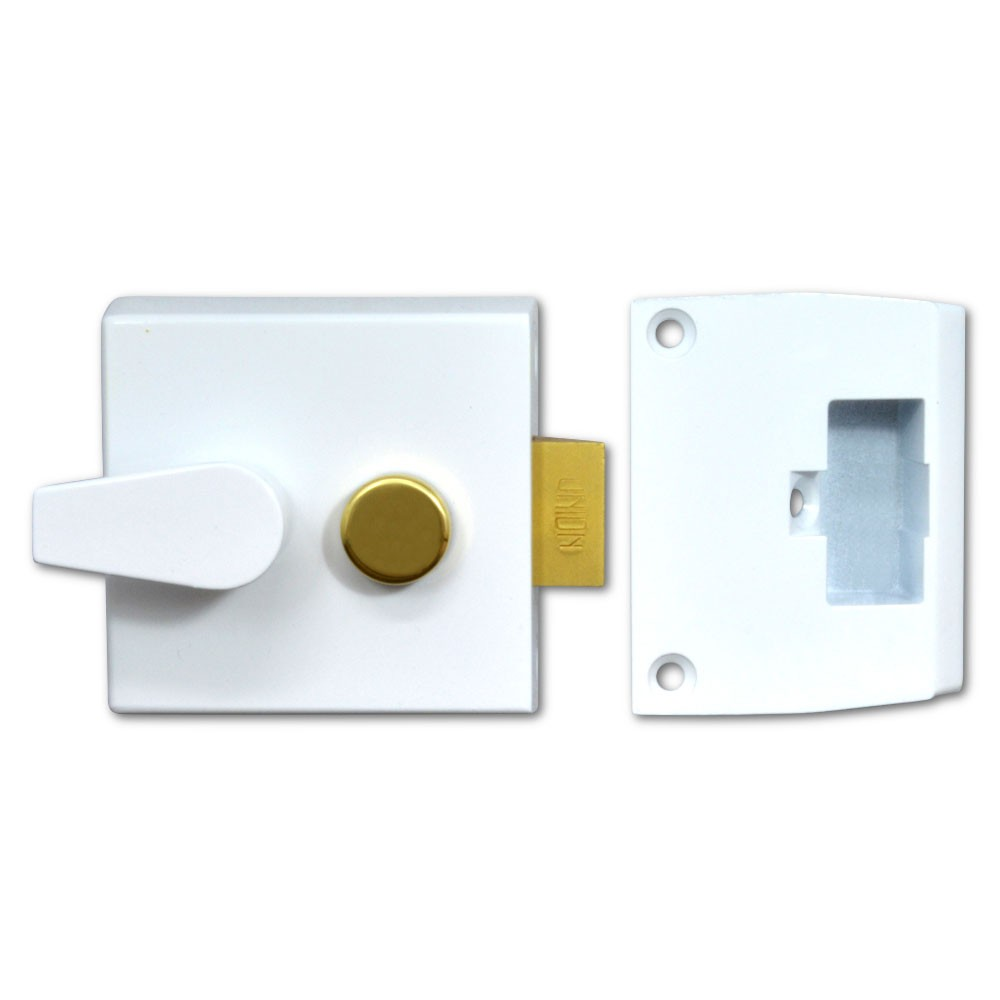 Union Nightlatch Case 50mm White