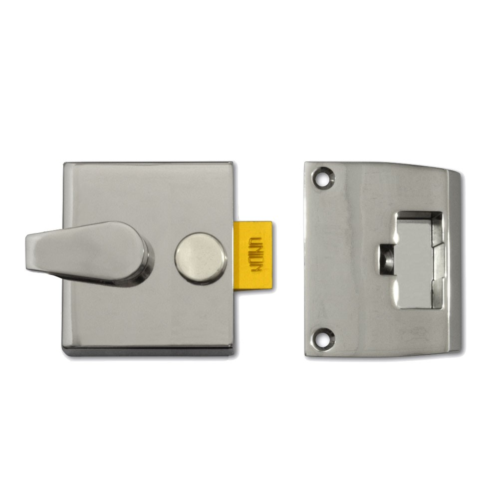 Union Nightlatch Case 40mm Satin Chrome