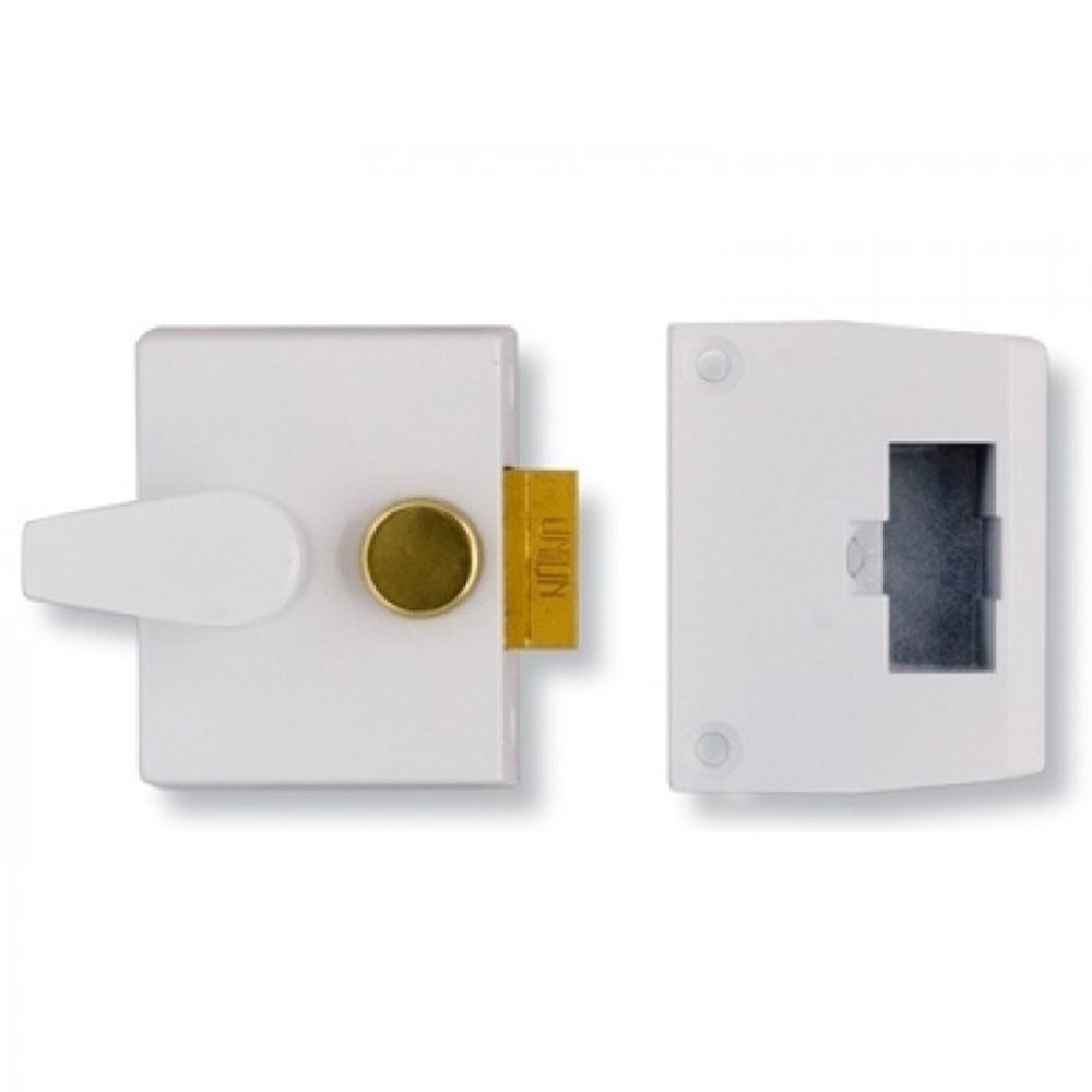Deadlocking Nightlatch Case 40mm White