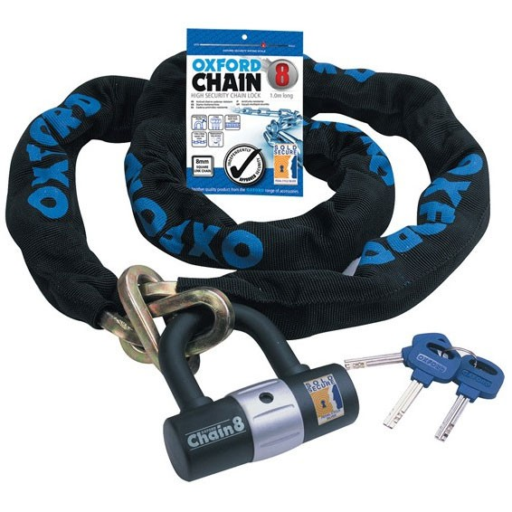 Oxford High Security Chain Lock 1m x 8mm
