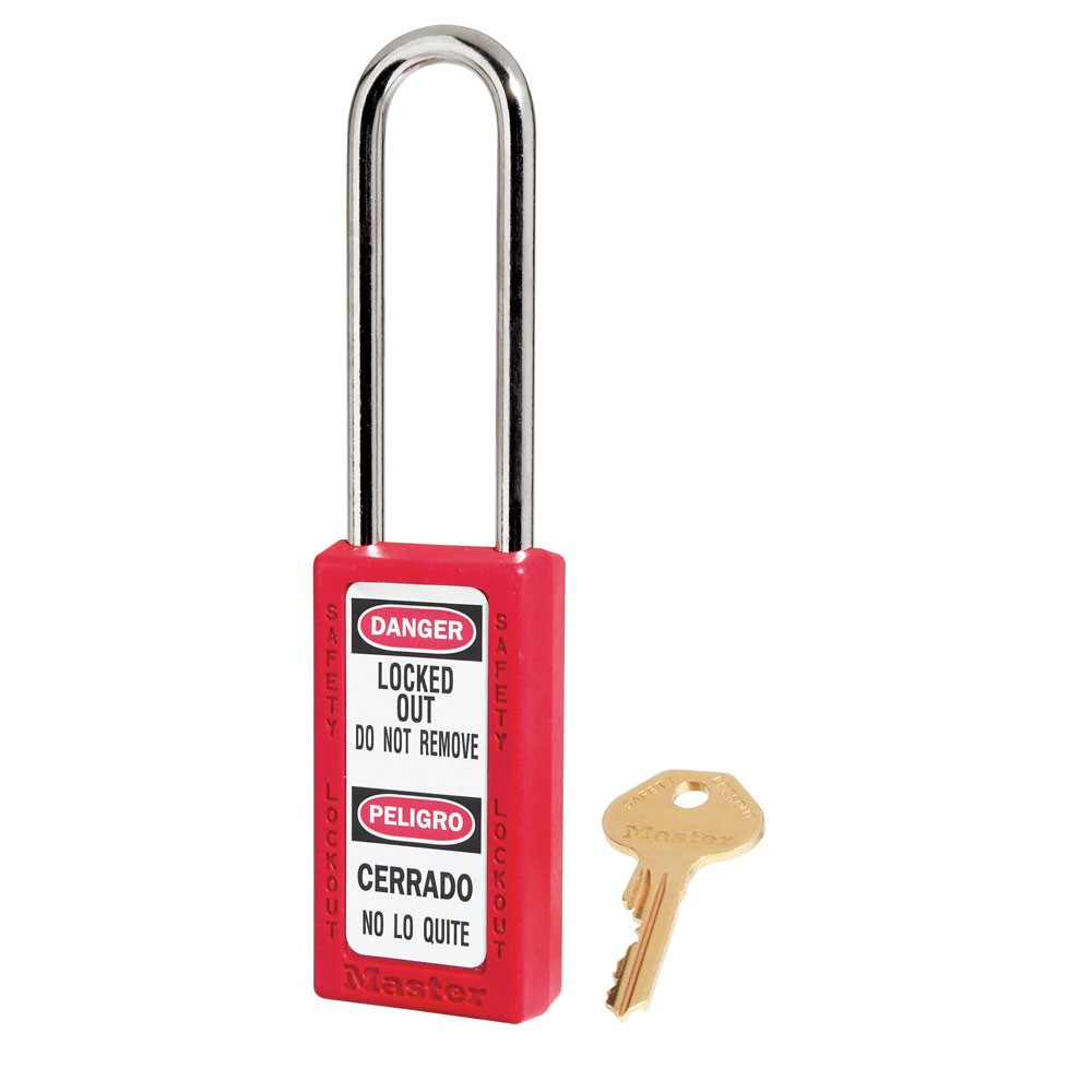 Master Lock 411LT Lockout Padlock Yellow Red
