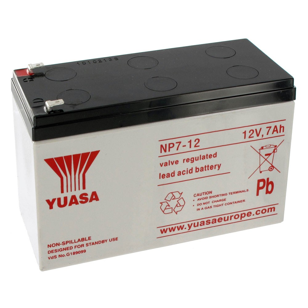 YUASA 12VDC Battery 7A