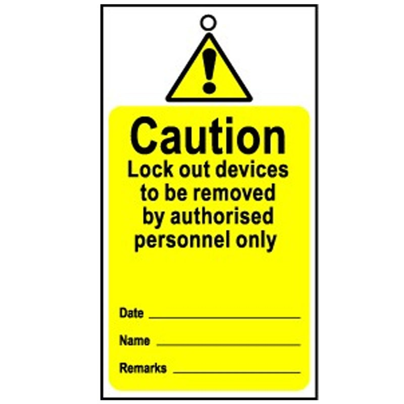 Lockout Tag Disposable Caution