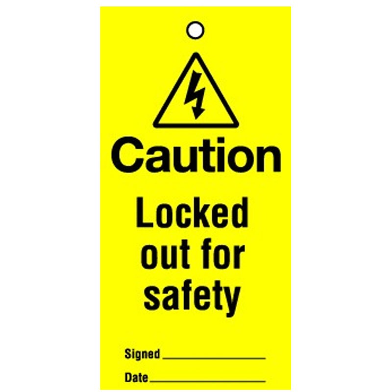 Lockout Tag Locked Out For Safety 100mm