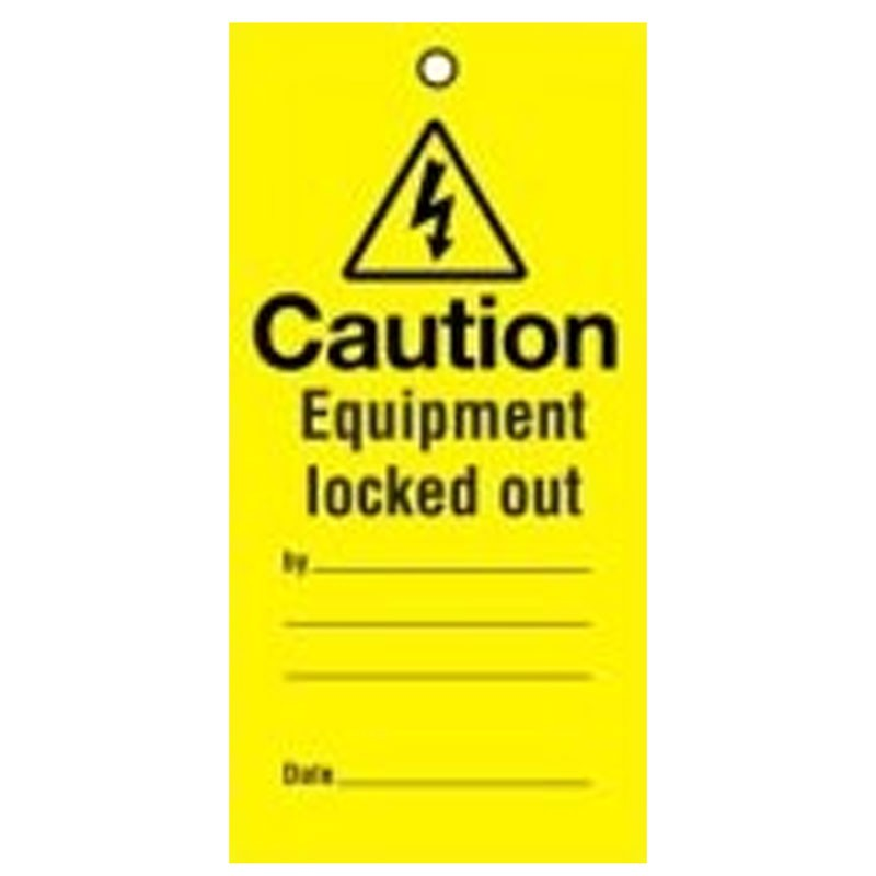 Lockout Tag Equipment Locked Out 100mm