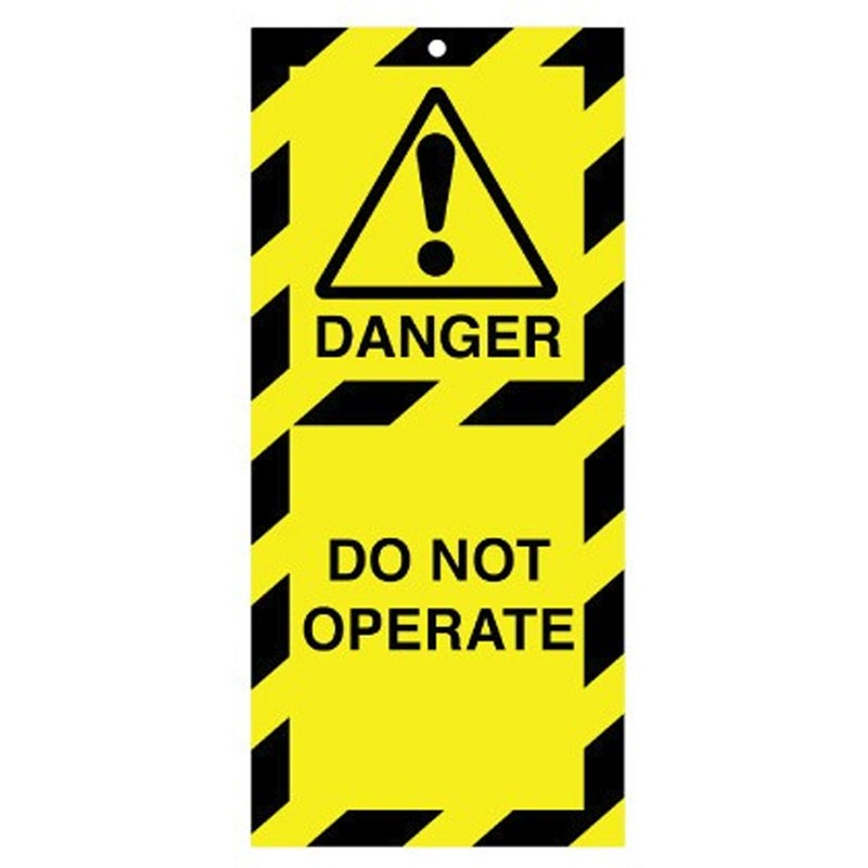 Poly Tag Do Not Operate 75mm