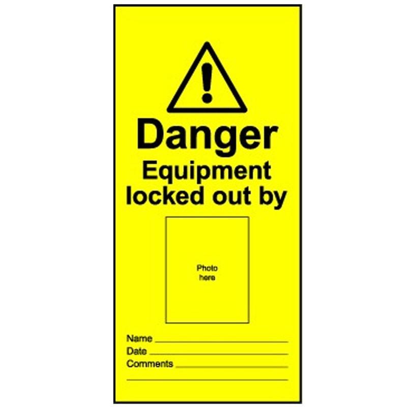 Lockout Tag Photo ID Equipment Lock
