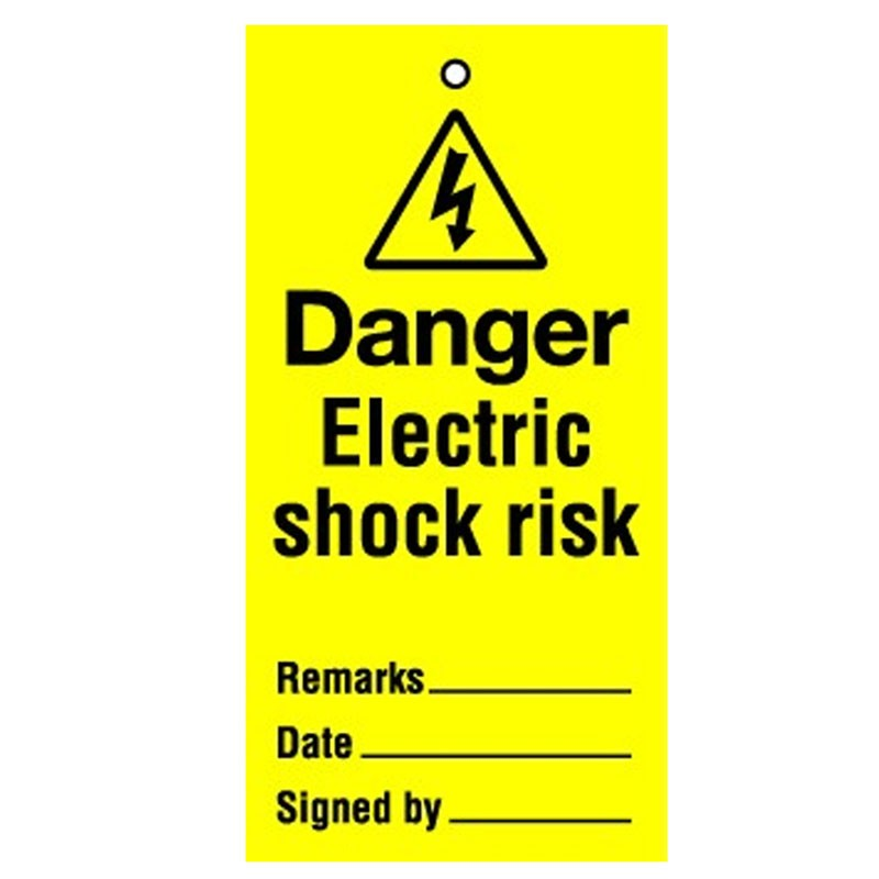 Lockout Tag Electric Shock Risk
