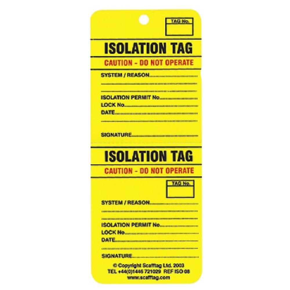 Lockout Tag Iso Two-part Perforation