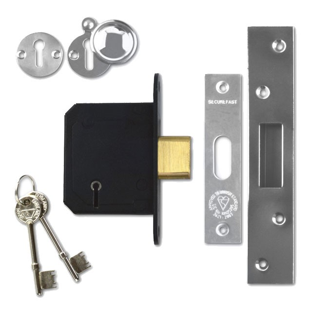 Securefast SKD 5 Lever Deadlock 64mm Stainless Steel