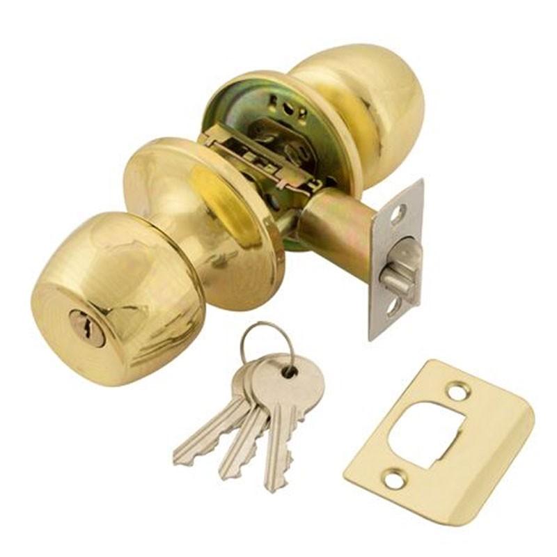TSS Entrance Knobset Polished Brass