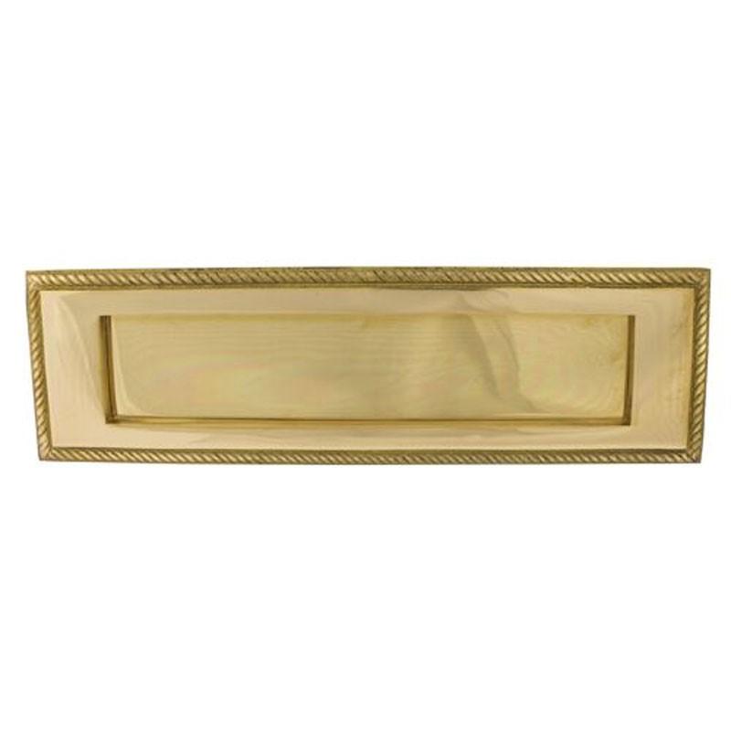 TSS Georgian Sprung Letter Plate 10x3 Brass