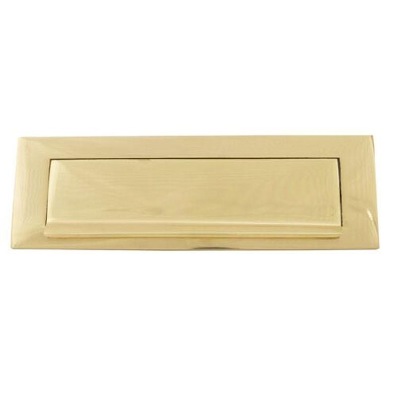 TSS Victorian Gravity Letter Plate 10x3 Brass