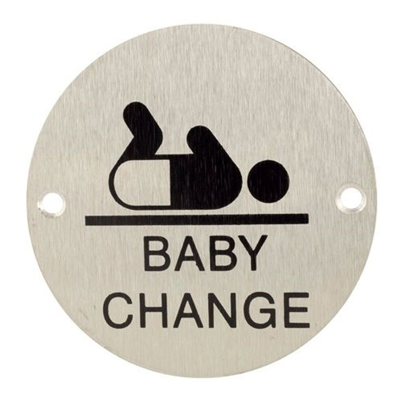 TSS Baby Change Engraved Sign Face Fix
