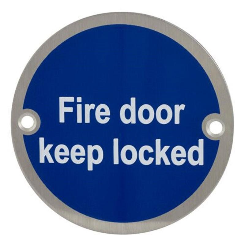 TSS Fire Door Keep Locked Sign Face Fix