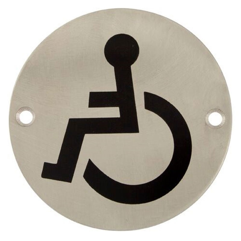 TSS Disabled Engraved Sign Face Fix