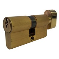 Cisa C2000 Euro Cylinder & Turn Satin Brass