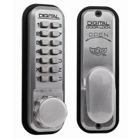 Lockey 2430 Mechanical Digital Lock Satin Chrome