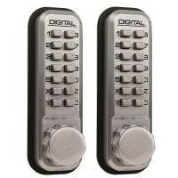 Lockey 2430 Lock Back To Back Satin Chrome