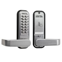 Lockey 2835 Push Button Lock Satin Chrome