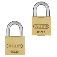 65/20mm Brass Padlock Twin pack